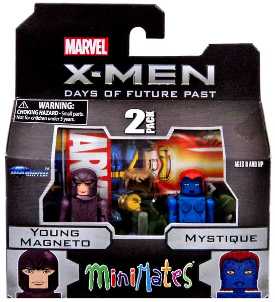Marvel Minimates Series 58 Young Magneto & Mystique Minifigure 2-Pack