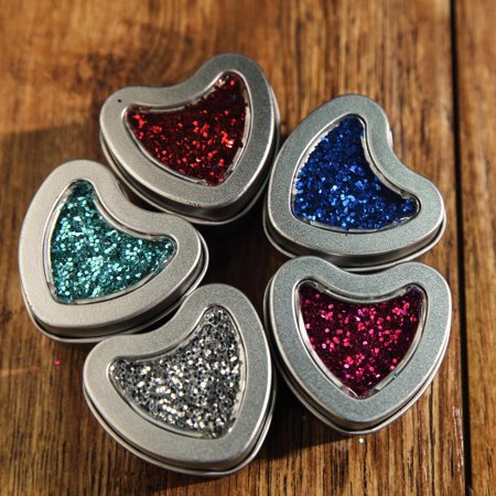 Efavormart 10 Pack Silver Heart Favor Tins With Clear Lid For Wedding Favors Small Silver Favor Tins