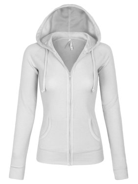 eb466411794 Product Image KOGMO Womens Solid Casual Basic Thermal Zip Up Hoodie Jacket