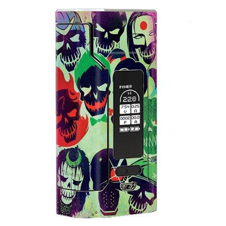 Skin Decal Vinyl Wrap For Wismec Predator 228 Vape Mod Stickers Skins Cover/ Skull Squad, Green