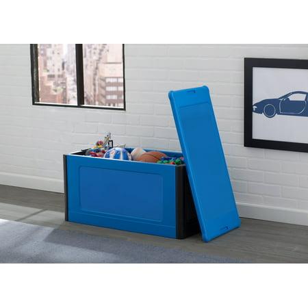 Delta Children Durable Plastic Store and Organize Toy Box, Blue
