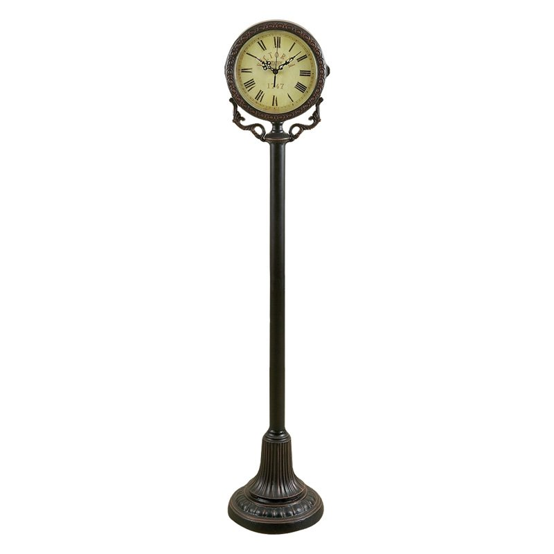Aspire Home Accents Metal Floor Clock on Post