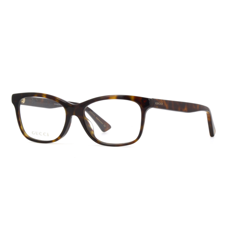 Gucci GG0162OA 002 Eyeglasses Dark Havana Brown Frame - Gucci Womens Eyeglasses