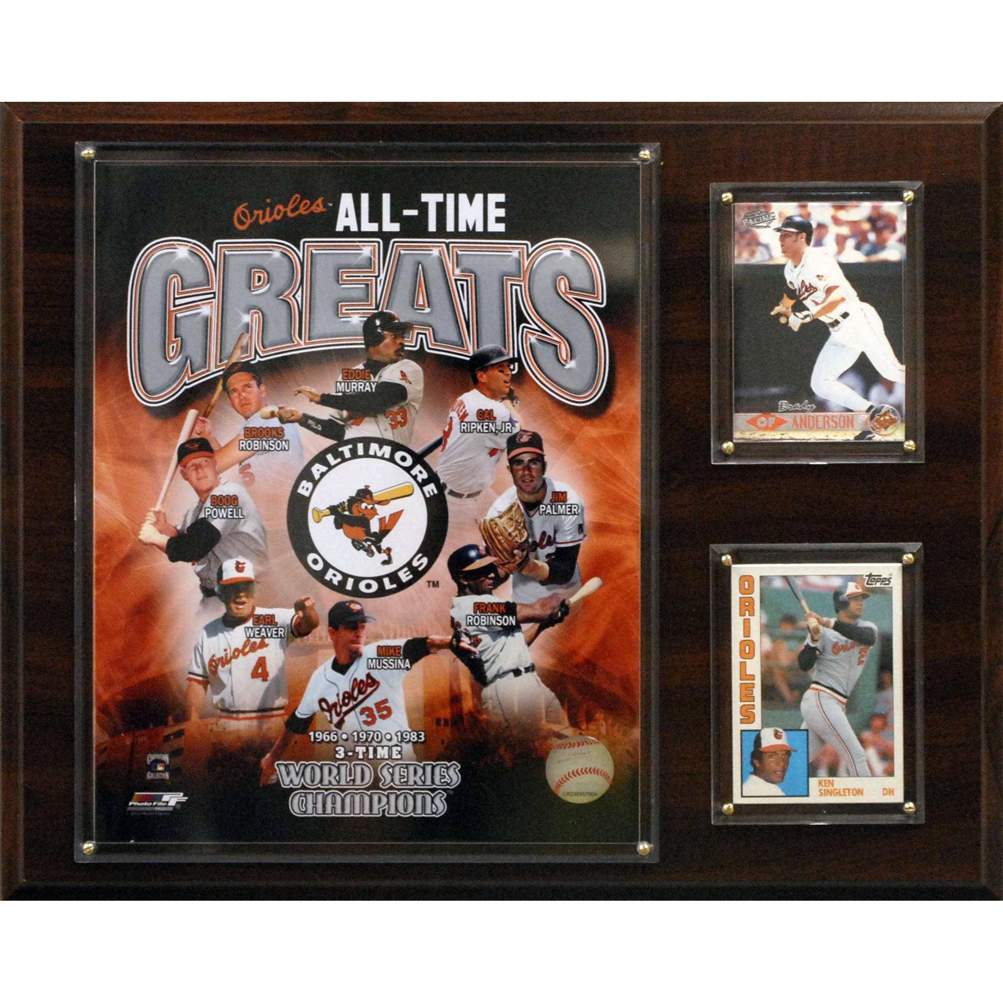 C&I Collectables MLB 12x15 Baltimore Orioles All-Time Great Photo Plaque