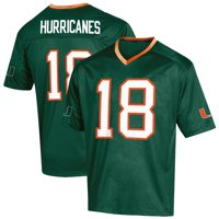 Youth Russell Athletic Green Miami Hurricanes Replica Football Jersey