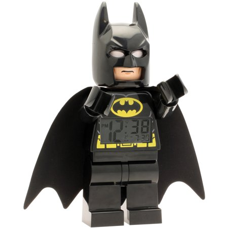 LEGO Super Heroes Batman Kids' Minifigure Moveable Alarm Clock