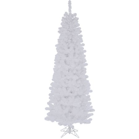 Vickerman Unlit 5.5' White Salem Pencil Pine Artificial Christmas (Pencil Pine Tree)