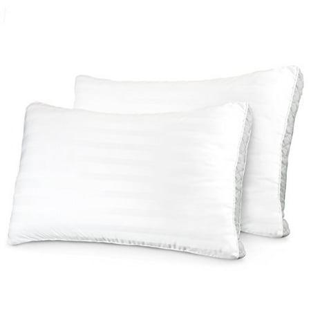 Sleep Restoration Gusseted Gel Pillow - (2 Pack) Hotel Series with Plush Cooling Gel Fiber - Hypoallergenic & Dust Mite Resistant