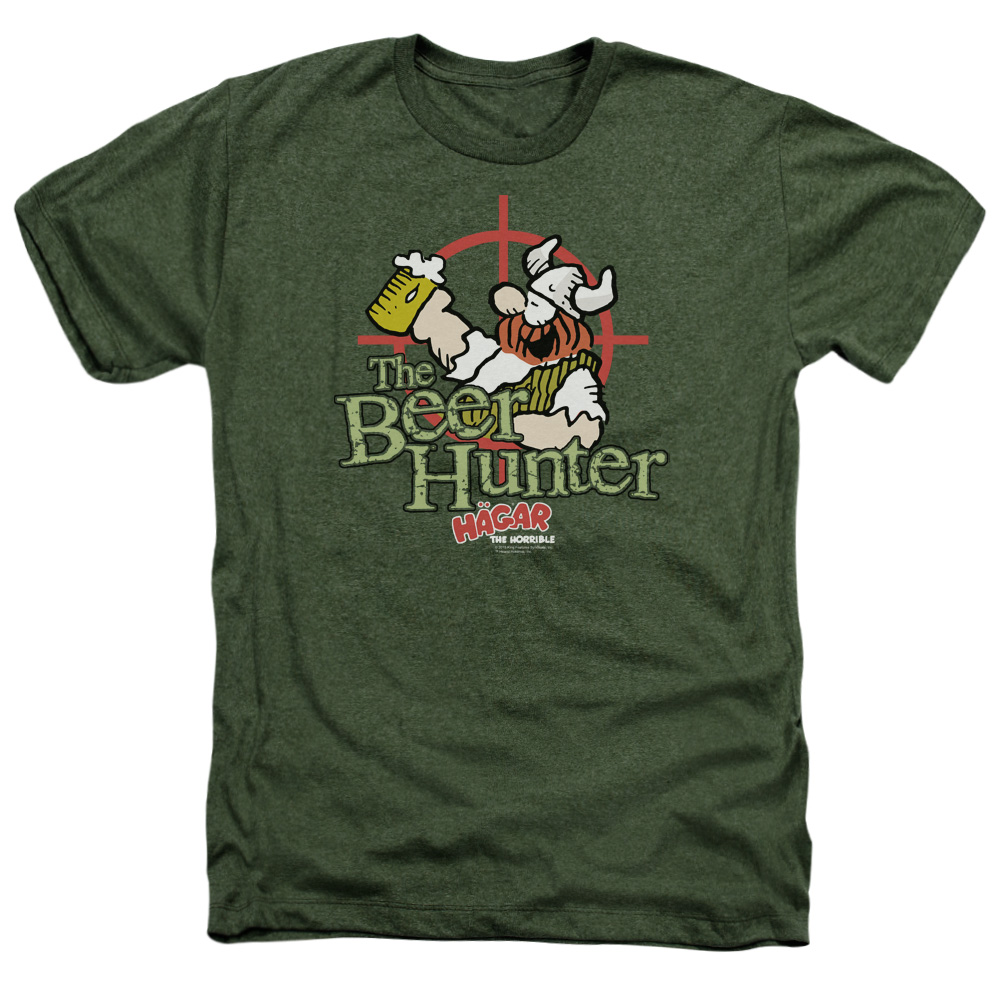 Hagar The Horrible Beer Hunter Mens Heather Shirt