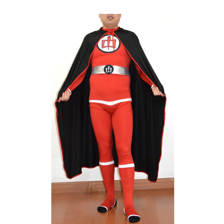 Greatest American Hero Adult Costume And Cape Body Suit Spandex Superhero 80s - 80s Movie Costumes