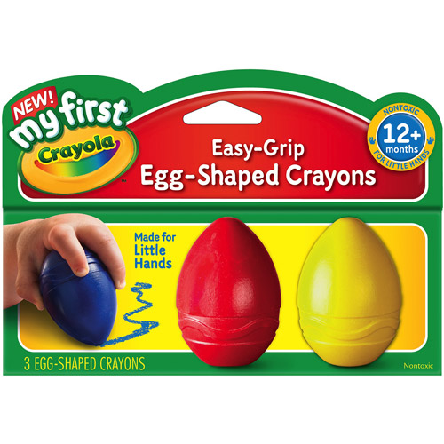 My First Crayola Easy Grip Egg Shaped Crayons, 3pc