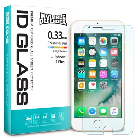 Apple iPhone 8 Plus Screen Protector - Ringke Invisible Defender Glass [2-Pack] [0.33 mm TEMPERED GLASS] Ultimate Clear Shield, High Definition (HD) Quality - 033 Glasses
