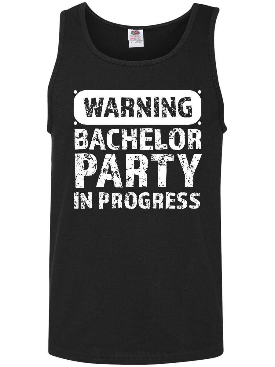 c725ec19563c12 Warning Bachelor Party in Progress Men s Tank Top - Walmart.com