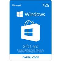 Microsoft Windows Store Gift Card Digital $25 (Digital Code)