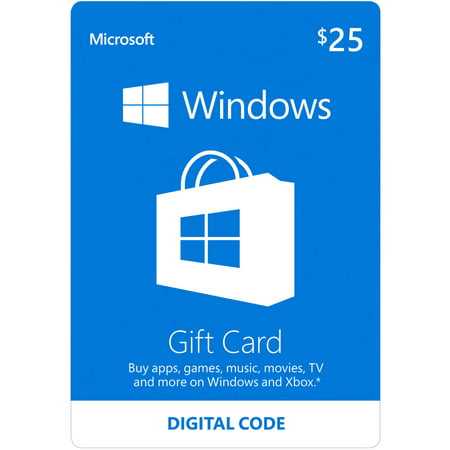 Microsoft Windows Store Gift Card Digital $25 (Digital (List Of Unused Amazon Gift Card Codes)