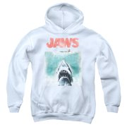 Jaws Vintage Poster Youth Pull Over Hoodie  White  Uni726
