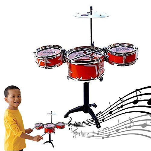 Dazzling Toys Red Desktop Drum Set Musical Instrument Toy Playset Rock on Drums by dazzling toys
