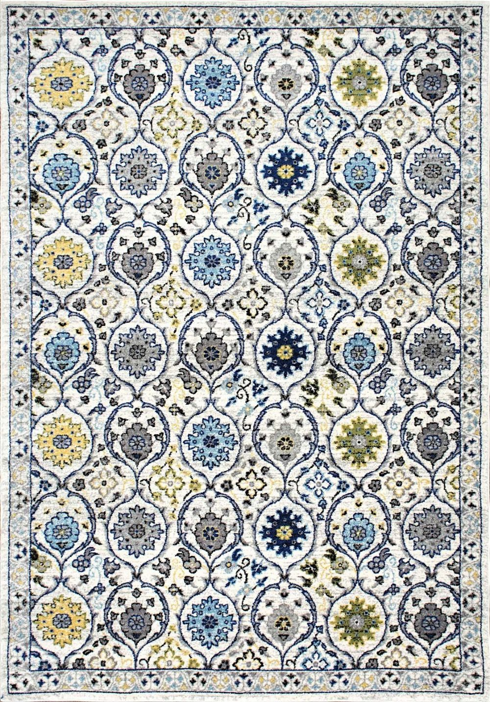Country & Floral Kesha Collection Area Rug in Multi and Rectangle Shape by nuLOOM