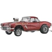 Revell D & M 62 Corvette Gasser Plastic Model Kit Multi-Colored