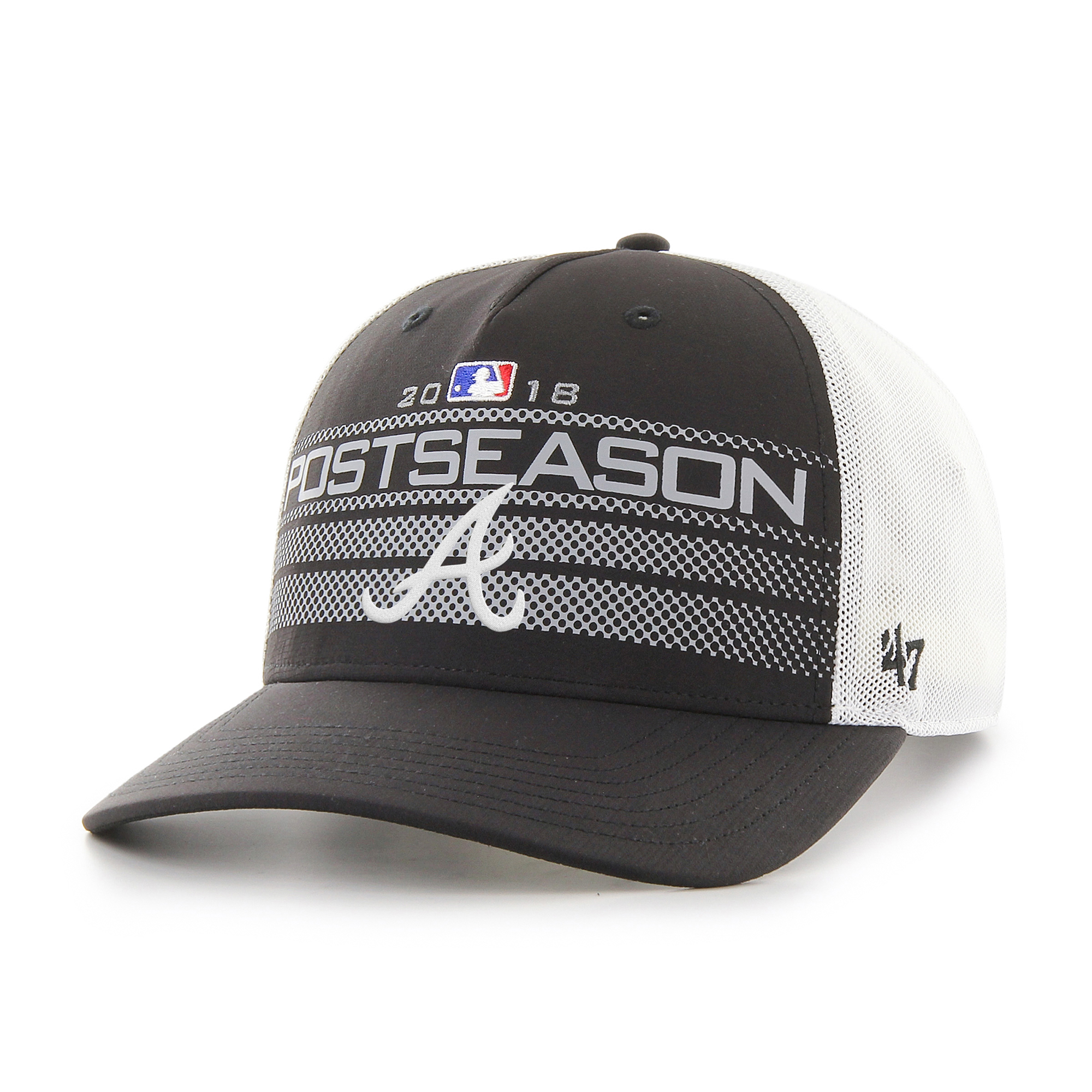 Atlanta Braves '47 2018 Postseason Official On-Field Altitude Adjustable Hat - Black - OSFA