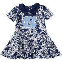 North Carolina Tar Heels Colosseum Girls Infant Sasha Floral Dress - Carolina Blue