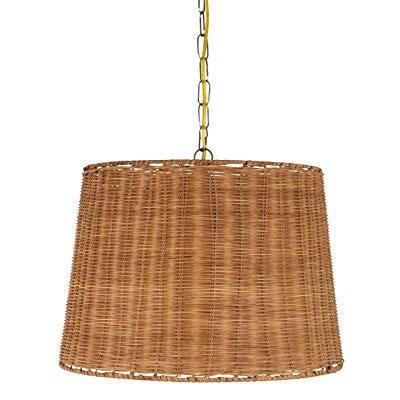 upgradelights wicker rattan swag lamp lighting fixture hanging plug ...