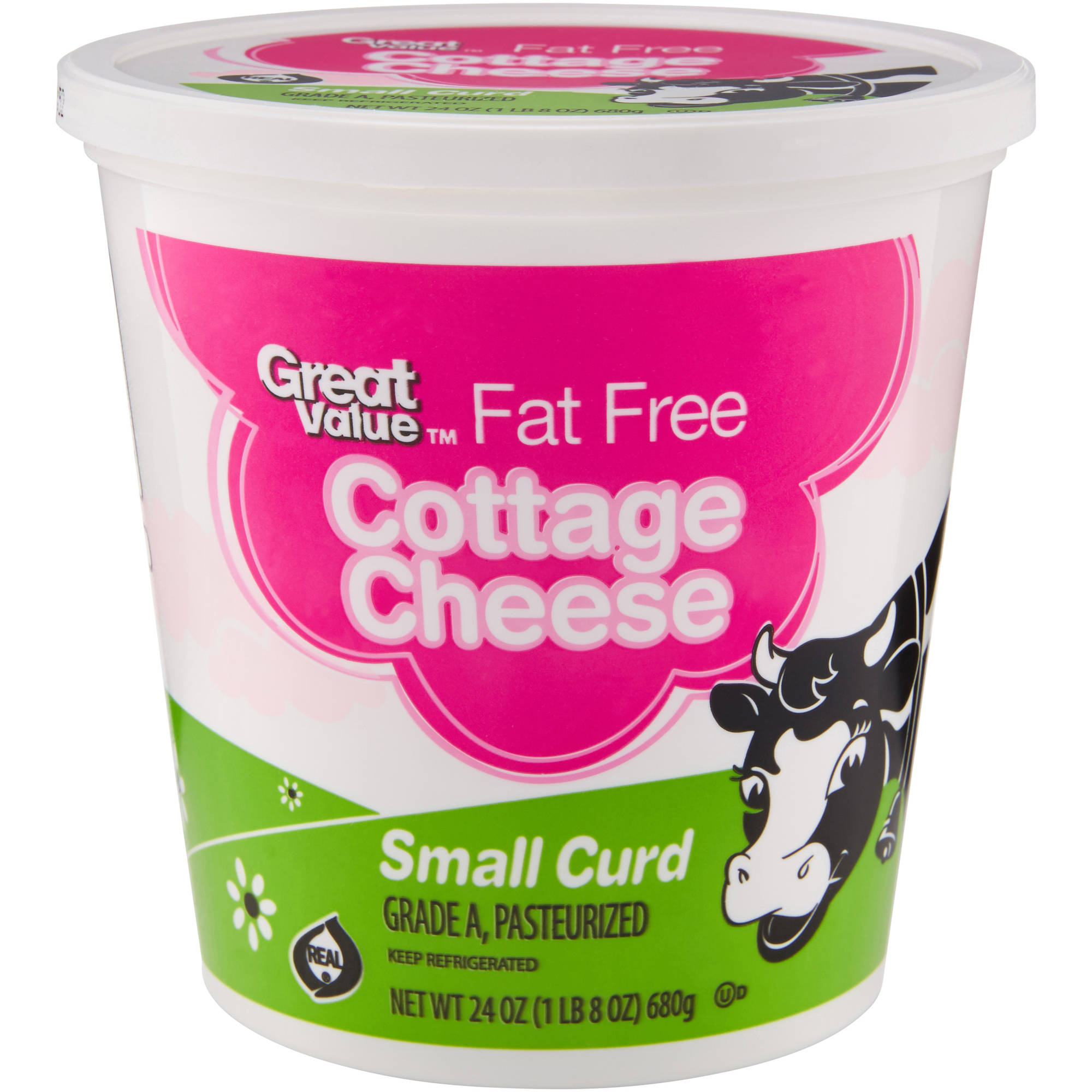 Great Value Fat Free Small Curd Cottage Cheese, 24 oz