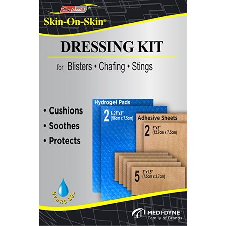 Skin Adhesive Dressing - 2Toms Skin-On-Skin Dressing Kit - Medical Grade Adhesive Bandages - Blisters, Stings, Chafing & Skin Irritations (All Day Wear)