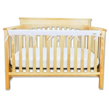 Trend Lab Fleece CribWrap Rail Cover for Long Rail, White, Narrow for Crib Rails Measuring up to 8