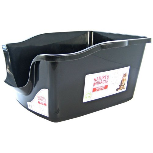 Natures Miracle High Side Litter Pan 2.3 Pound Capacity - (22.8 Inch L x 17.8 Inch W x 11 Inch H)