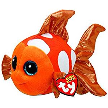 Cp TY Beanie Boos -Sami the Orange Fish (Glitter Eyes) Small 6