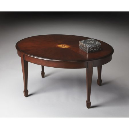 Marvelous Butler Clayton Plantation Cherry Oval Coffee Table Pabps2019 Chair Design Images Pabps2019Com