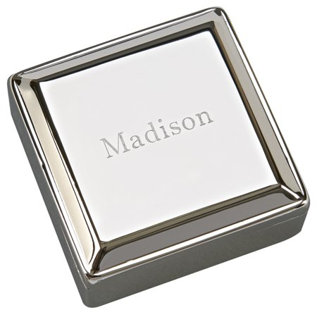 Personalized Monogrammed Jewelry Box W/Lift Top, Nickel Plated ()