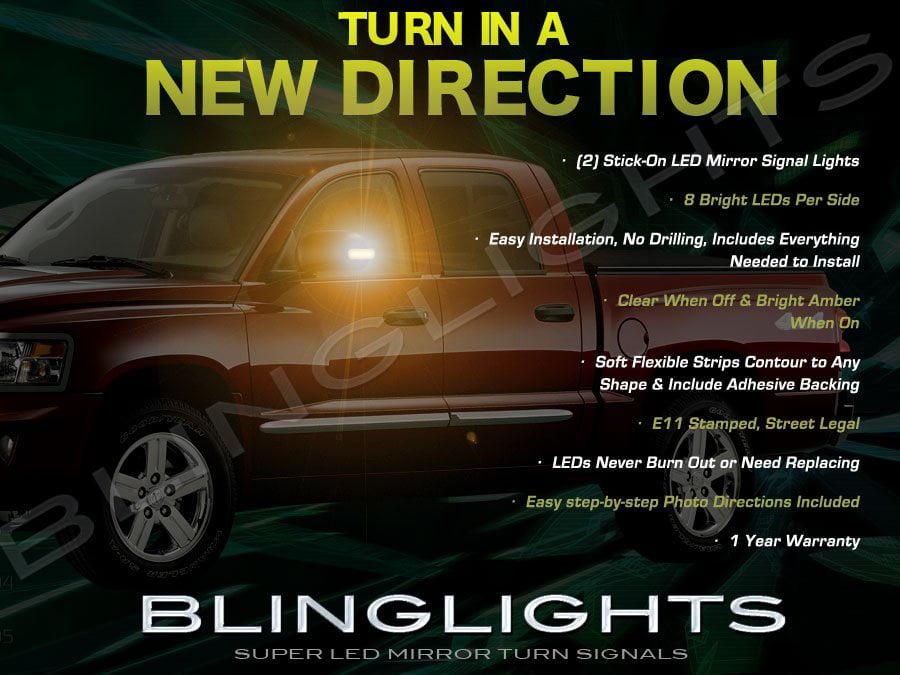 Dodge Dakota Side View Mirror Addon LED Turnsignal Lights by BlingLights