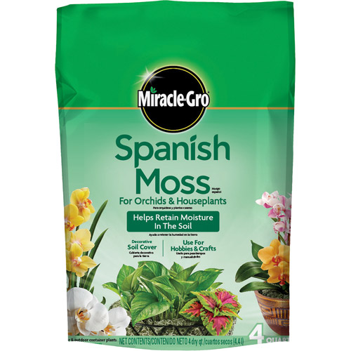 Miracle-Gro Spanish Moss for Orchids & Houseplants, 4 qt
