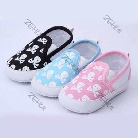 Kacakid Skull Anti-slip Baby Toddler Canvas Crib Shoes Boy Girl Prewalker Slippers - Baby Bunny Slippers