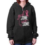 Breast Cancer Awareness Shirt Grab Some Save Pink Ribbon Cool Zipper Hoodie