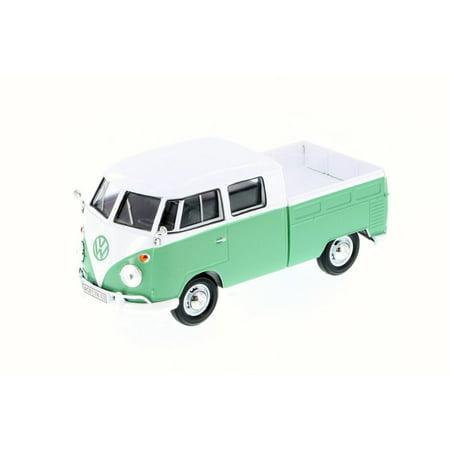 Volkswagen Type 2 Bus - Volkswagen Type 2 Pick-Up Bus, Seafoam Green - Motor Max 79343 - 1/24 Scale Diecast Model Toy Car (Brand New, but NOT IN BOX)