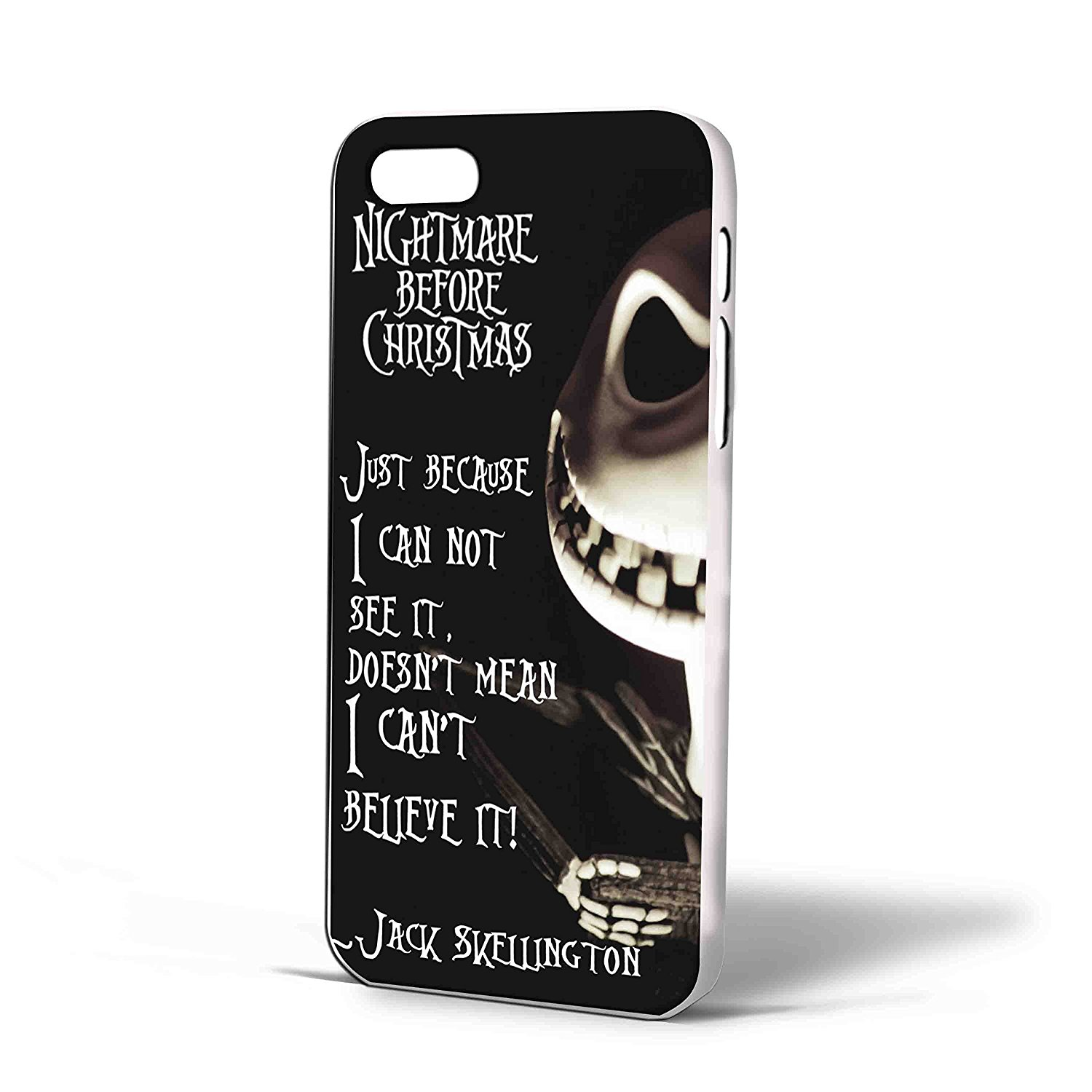 Ganma Jack Skellington Quote Nightmare Before Christmas Case For iPhone Case (Case For iPhone 6s White)