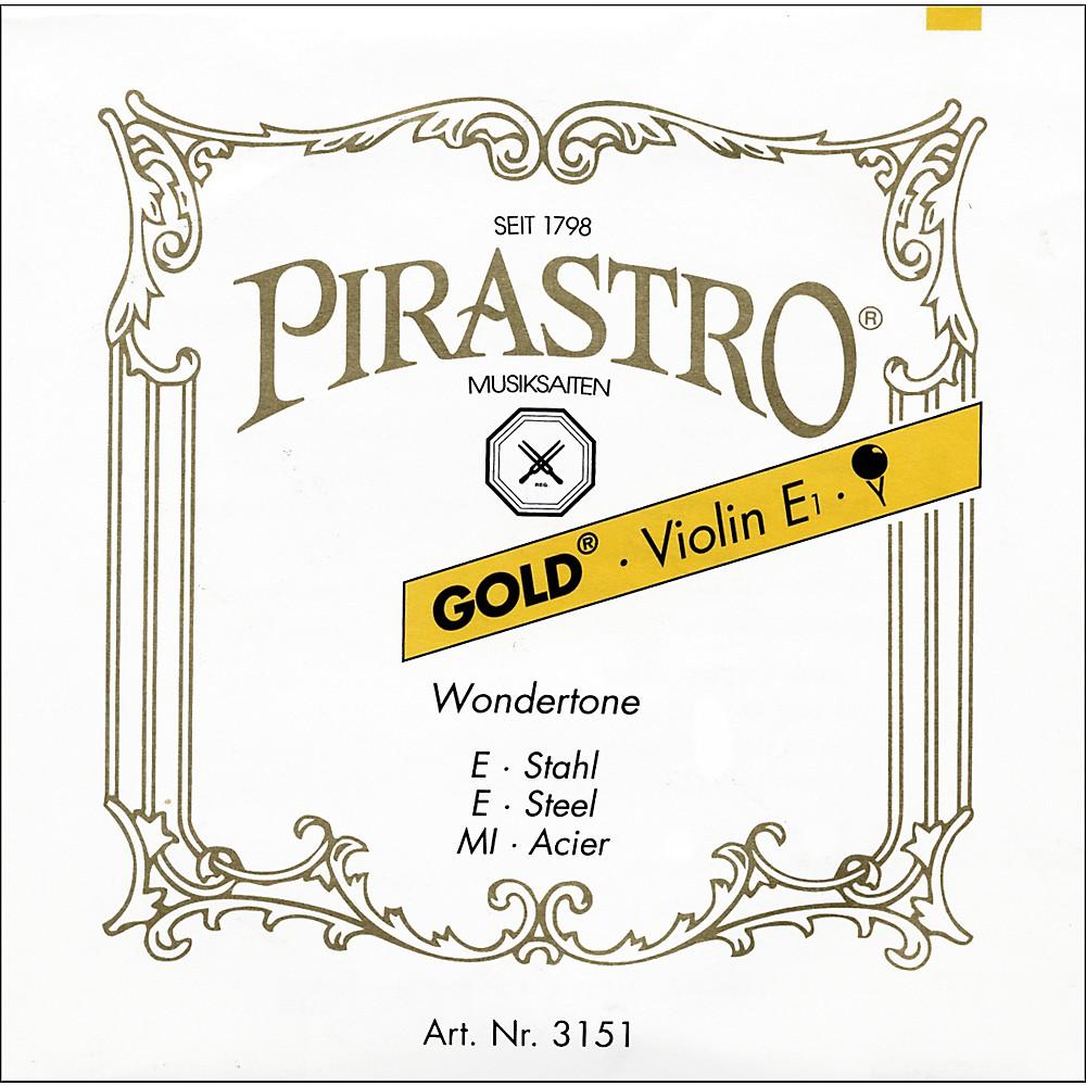 Pirastro Wondertone Gold Label Series Violin E String 4/4 Size Medium Loop End