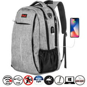 OPACK RFID-Safe Travel Laptop Backpack with USB Charging Port