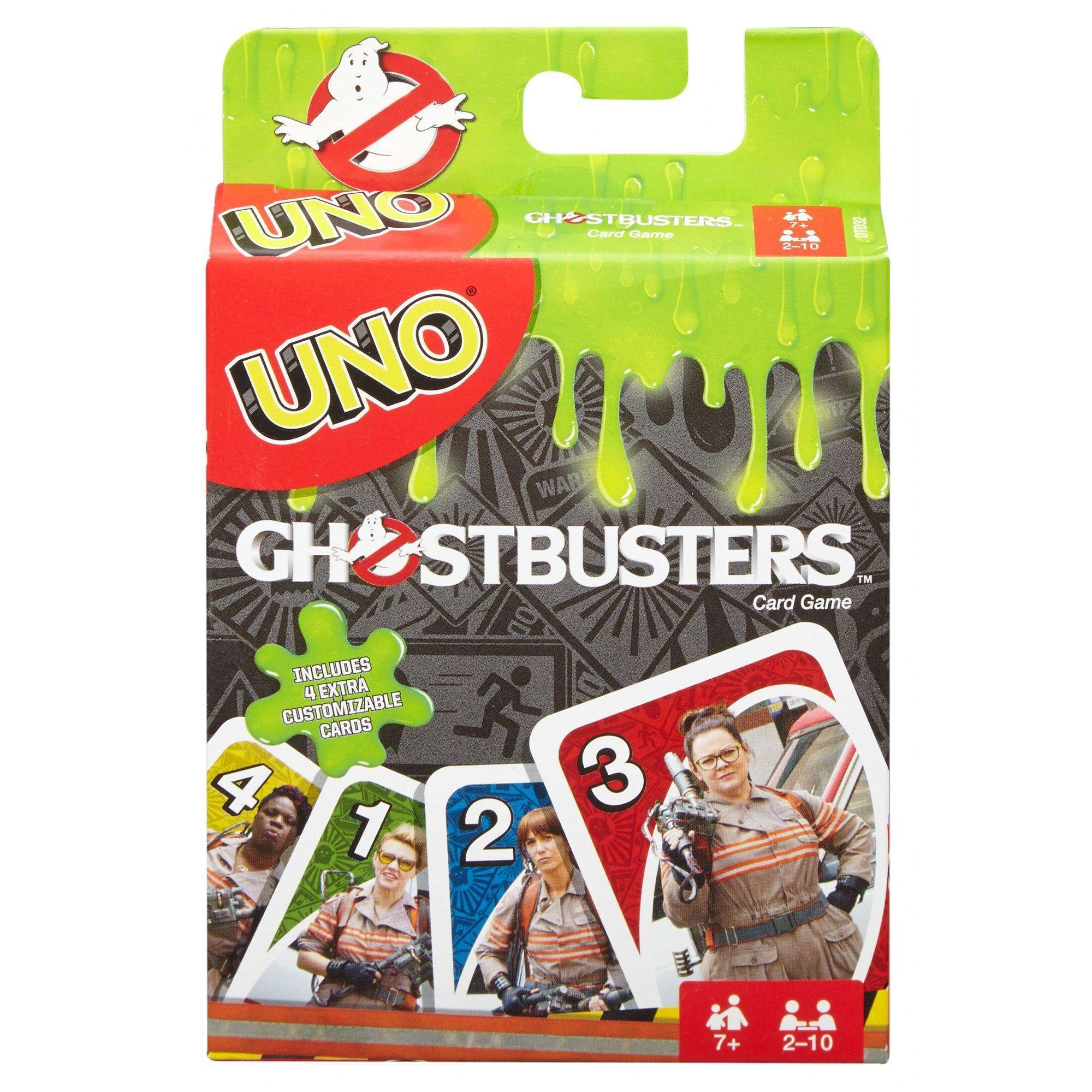 UNO Ghostbusters Theme Card Game for 2-10 Players Ages 7Y+