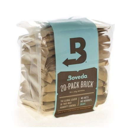 Boveda 84% RH 2-Way Humidity Control, Large 60 gram, Bulk 20 Pack Brick