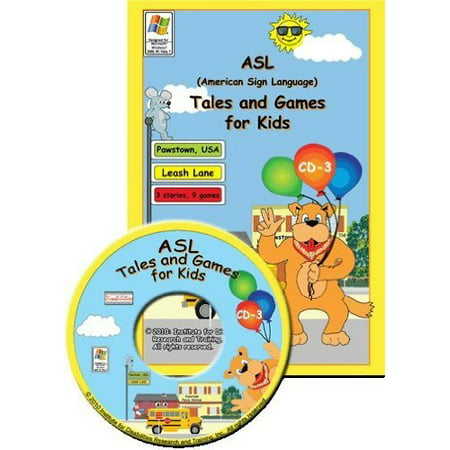 Asl American Sign Language Tales And Games For Kids  1  Woof Woof Way  For Windows Only