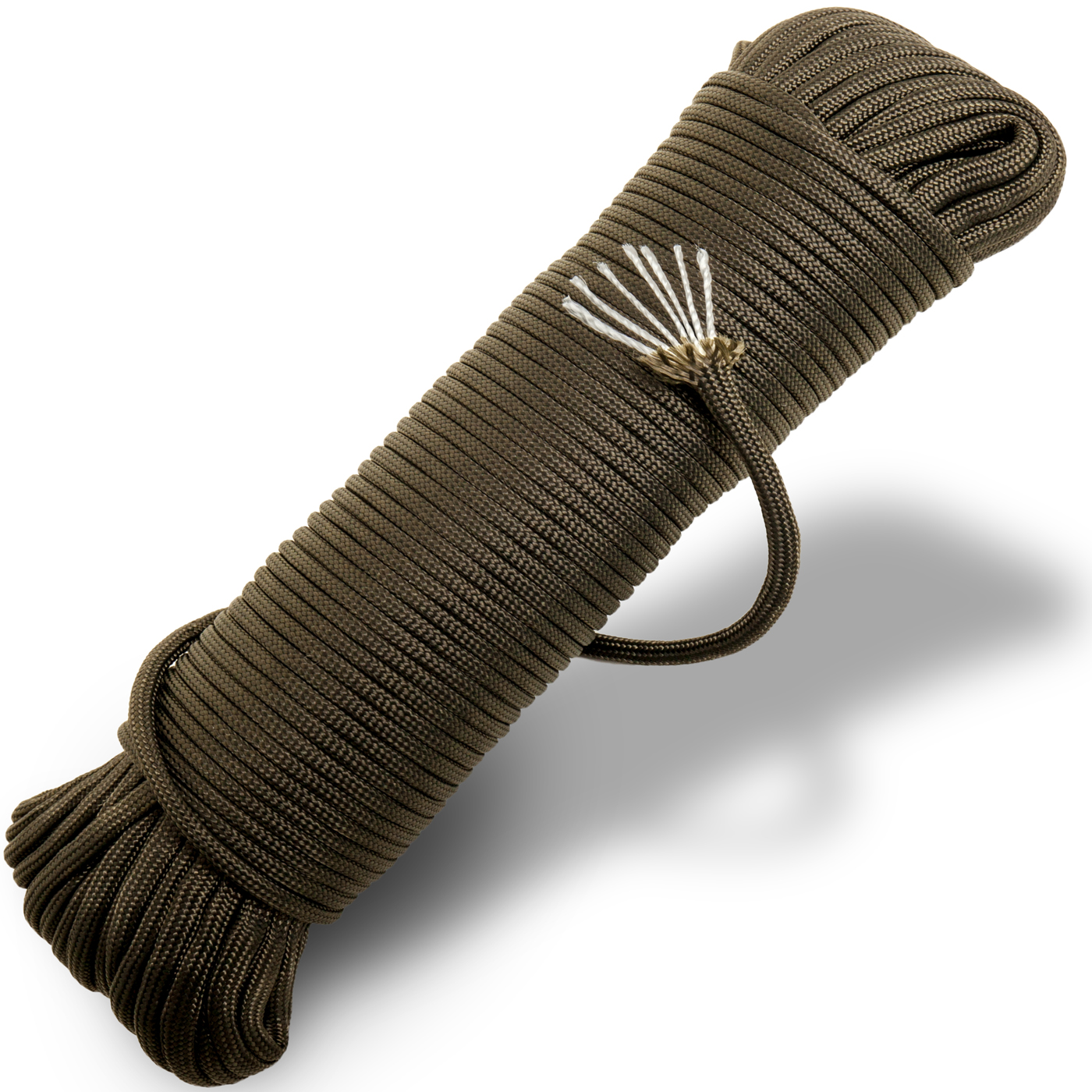 100 Ft. Type III 7 Strand 550 Lb Test Paracord Mil Spec Parachute Cord Outdoor Rope Tie Down - Olive Drab