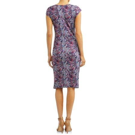Uv Glow Dresses (Women's V-Neck Tank Dress with Twisted)