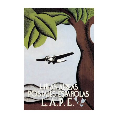Lape Spanish Postal Airlines Print Unframed Paper Print 20x30
