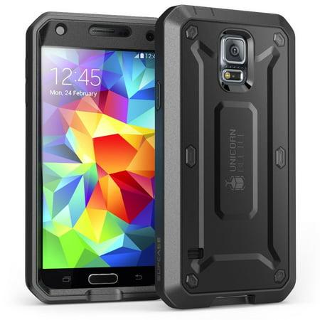 best website 62647 093ac Galaxy S5 Case, SUPCASE,Unicorn Beetle Pro, Samsung Galaxy S5 Case,  Built-in Screen Protector-Black/Black