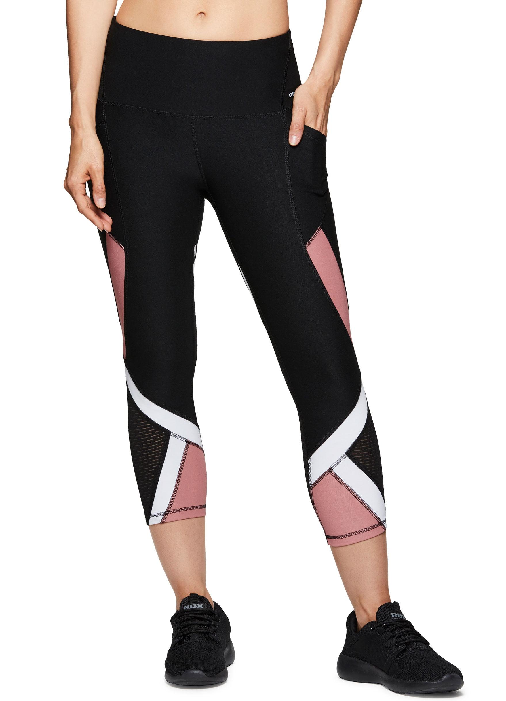 c99d6cf29d988 RBX Active Women's Athletic Gym Workout Yoga Capri Length Legging Mesh