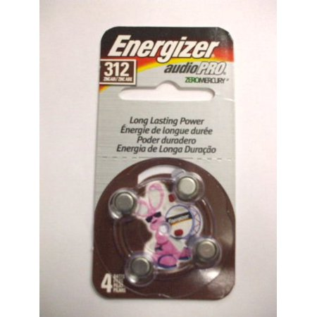 Energizer AC312E-4 Hearing Aid Batteries (4-Pack)